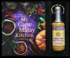 2. SA Travel Gift Box Cape Malay Food Book with selection of local sauces
